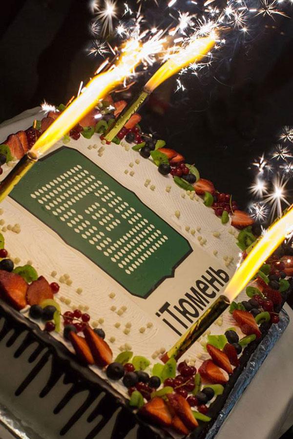 Праздничный торт в честь 6-летия Клуба IT-Директоров Тюмени